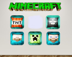 kit 25 almofadas - Minecraft