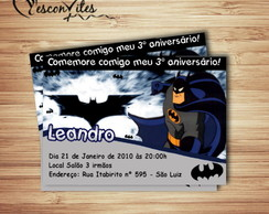 Convite Digital-Tema Batman
