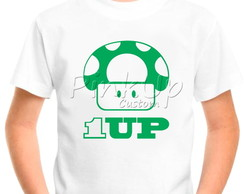 Camiseta Infantil - Super Mario 1 UP