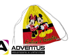 MIckey e Minnie | Mochilas Saco | Adventus Estamparia