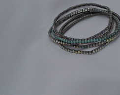 MIX DE PULSEIRAS CRISTAIS -STRASS, FINOS FURTACOR E TURQU
