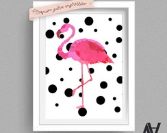 Poster digital A3 - Flamingo