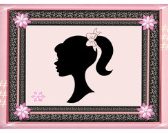 Quadro - Barbie Paris - mdf