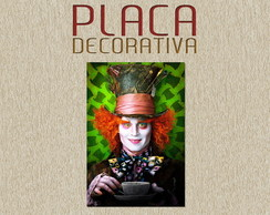 PLACA DECORATIVA - ALICE 01