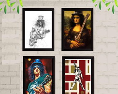 Quadro Slash Rock Guns Roses Guitarra música