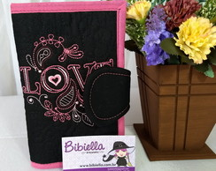 Carteira Patch Pink e Black