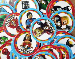 Tags ou Toppers Lego Super Heróis Mod 2