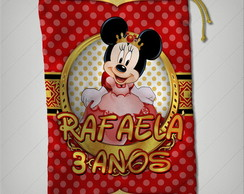 saquinho minnie princesa 17x25