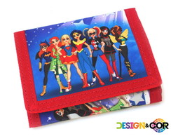 Carteira Infantil Tema Super Hero Girls