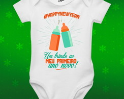 Body Personalizado para Bebê Feliz Ano Novo -Happy New Year