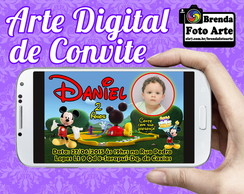 Convite Digital Casa do Mickey Mouse