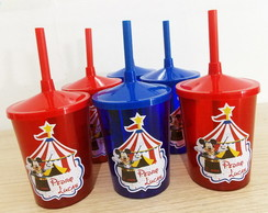 Copo Mini Shake Personalizado Circo do Mickey