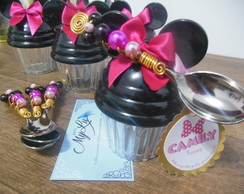 Mini Pote Minnie + Colher bordada + TAG