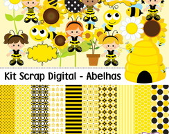 Kit Scrap Digital - Abelhas