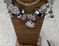 Pulseira Estilo Pandora Hello Kitty/ Minnie / Mickey