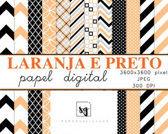 Papel Digital (Laranja e Preto)