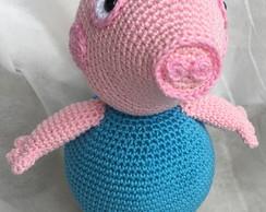 Crochet Amigurumi Peppa Pig Free Pattern | Brinquedos de crochê ... | 194x244