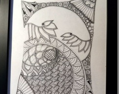 Quadro zentangle floral