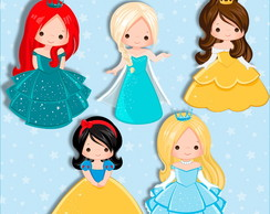 Kit Digital Princesas Cute Scrapbook 04