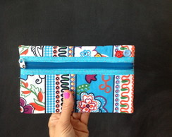 Clutch Estampada Azul