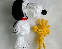 Snoopy e Woodstock crochê toy