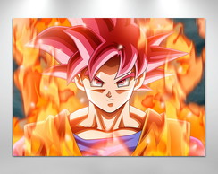 Placa decorativa Dragon ball goku Sayajin God