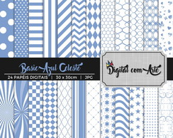 Papel Digital Azul Celeste