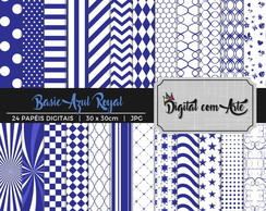 Papel Digital Azul Royal