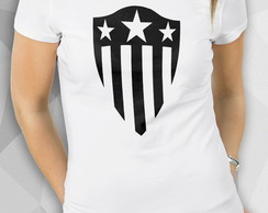 Camiseta - Star Shield - Masc Fem BW