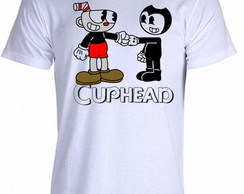 Camiseta cuphead bendy game run and gun 002