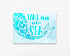 Quadrinho 19x27 Sereia - Take Me To The Sea