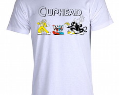 Camiseta cuphead bendy game run and gun 007