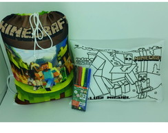 Kit Festa do Pijama Minecraft Colorindo