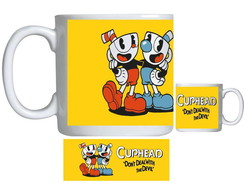 Caneca de Porcelana cuphead bendy game