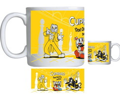 Caneca de Porcelana cuphead bendy game 002