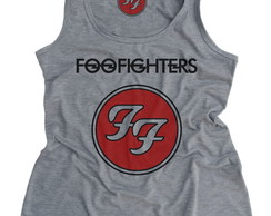 Regata Feminina Foo Fighters Cinza Mescla