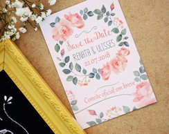 Save the Date com imã - Floral