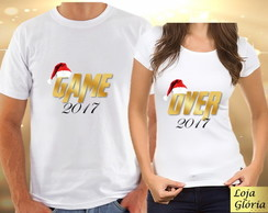 CAMISETA ANO NOVO GAME OVER PARA CASAL, COM 2