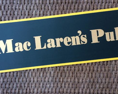 Placa Decorativa - Mac Larens Pub