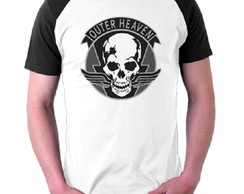 Camiseta Outer Heaven - Metal Gear Solid Games Kojima Raglan