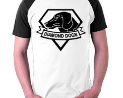 Camiseta Diamond Dogs - Metal Gear Solid Games Kojima Raglan
