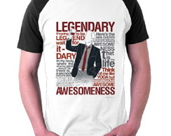 Camiseta Barney Stinson How Met Your Mother Raglan Legendary