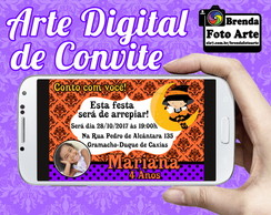Arte Digital Convite Halloween