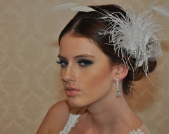 Fascinator de Noiva Off White