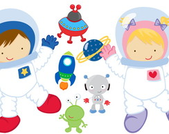 Kit Display Festa Infantil Astronauta
