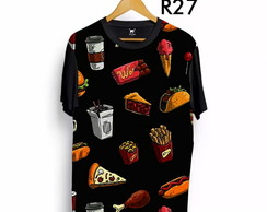 Camiseta Lanches doces e pizzas comes e bebes Tumblr Ydias.