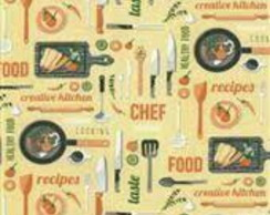 **TECIDO TRICOLINE CHEF FOOD