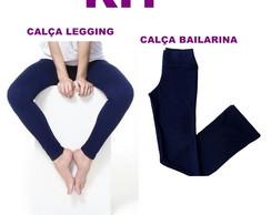 389b4a7f20 Kit Calça Bailarina + legging Infantil em suplex -FC-F428