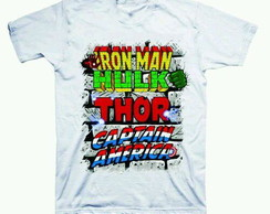 Camiseta estampada Heróis Marvel