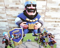 Kit Rei Azul / Clash Royale mdf